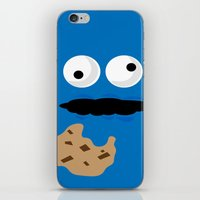 cookie monster iPhone & iPod Skins featuring Cookie Monster by Callum McGoldrick