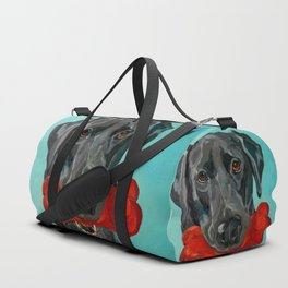 Ozzie the Black Labrador Retriever Duffle Bag