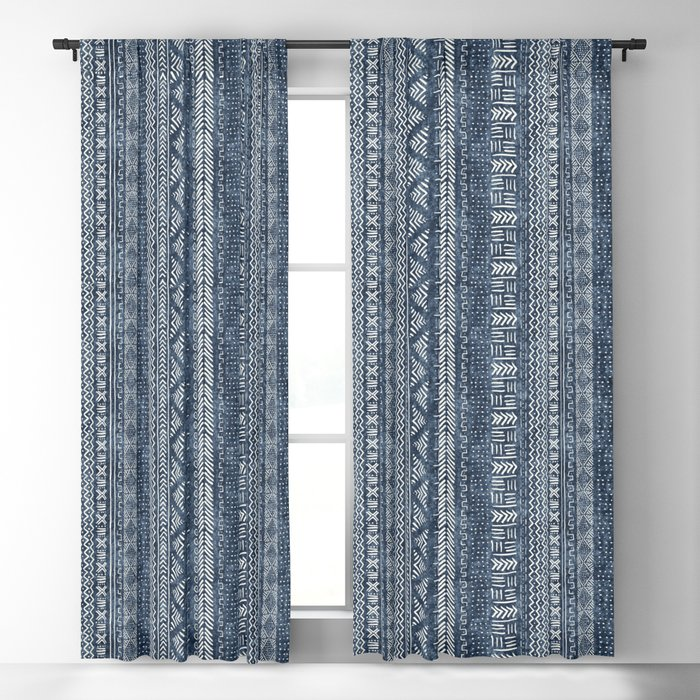 Mud Cloth Stripe Blackout Curtain