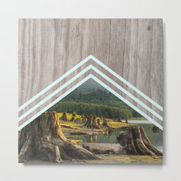 Geometric Dead Tree Metal Print