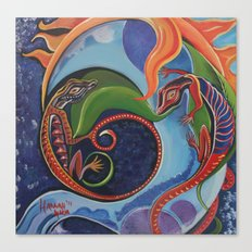 Lizard Moon Canvas Print