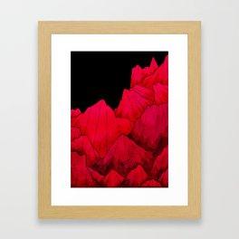 Rose red Rocks Framed Art Print