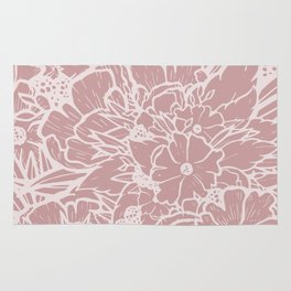 My World in Flowers - Pink Rug