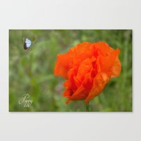 poppy Canvas Prints featuring Poppy by Fine Art by Rina