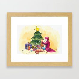 Cozy Christmas Framed Art Print