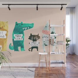 Animal idioms - its a free world Wall Mural