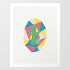Geo Cactus Art Print