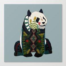 panda silver Canvas Print