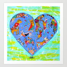 FURRY LOVE Art Print