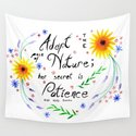 Pace of Nature Watercolor Typography with Flowers by orionrose