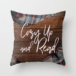 Cozy Up and Read Throw Pillow