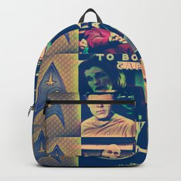 To Boldly Go Captain Backpack