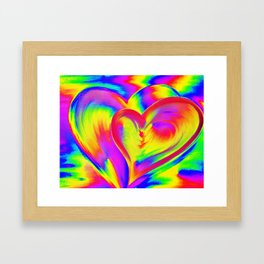 Double Heart beat Framed Art Print