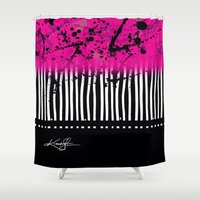 artsy Shower Curtains featuring Artsy Noise by Kathy Morton Stanion