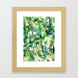 VIBE of the Jungle  {A-green} Framed Art Print