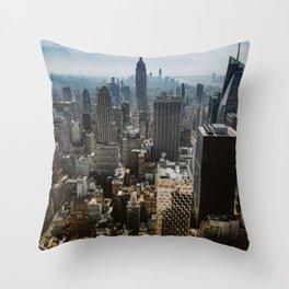NYC skyline views Throw Pillow