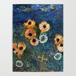 Abstract beautiful barnacles Poster