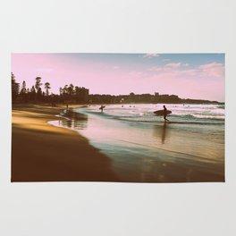 Manly beach surf Rug