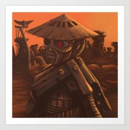 Desert Robot Art Print