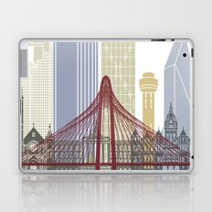 Dallas skyline poster Laptop & iPad Skin