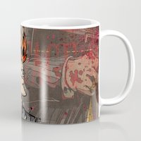 scarface Mugs featuring Fryface by Beery Method