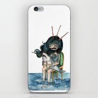 anxiety iPhone & iPod Skins featuring anxiety by leteresa