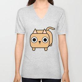 Cat Loaf - Orange Kitty Unisex V-Neck