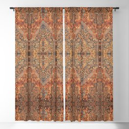 N198 - Vintage Heritage Traditional Golden Berber Moroccan Style Blackout Curtain