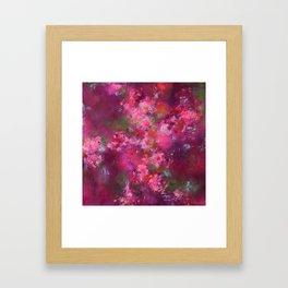 Erin's flowers Framed Art Print