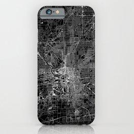 Indianapolis Black Map iPhone Case
