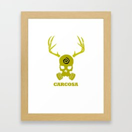 Carcosa Gas Mask Yellow Framed Art Print