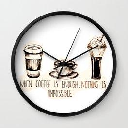 Coffee empowerment  Wall Clock