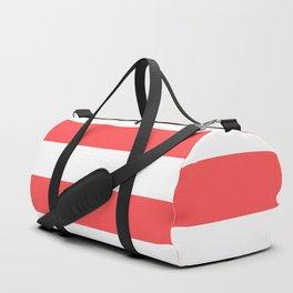 Coral Stripes Duffle Bag