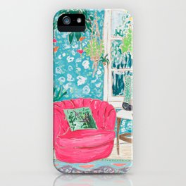 Pink Tub Chair iPhone Case