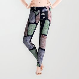 African Batik Tie Dye Pattern Leggings