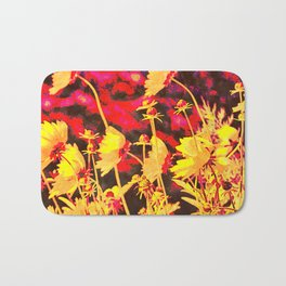 Blowing In The Wind Floral Bath Mat