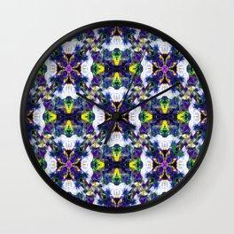 Petunias in Love Wall Clock