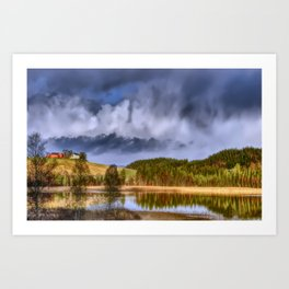 Angry Clouds Art Print