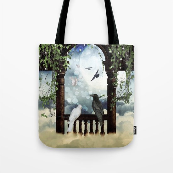 The crow and the dove Tote Bag