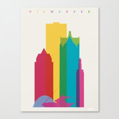 Shapes of Milwaukee. Accurate to scale Canvas Print