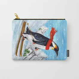 Penguin Alpine Skiing Carry-All Pouch