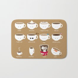 Know Your Coffees Bath Mat
