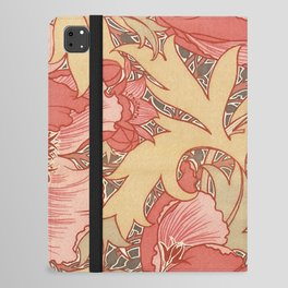 William Morris Poppies Floral Art Nouveau Pattern iPad Folio Case