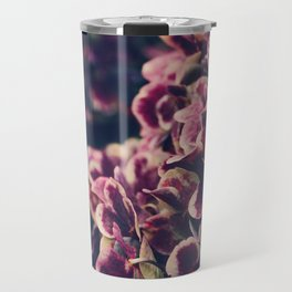 hydrangea - deep purple Travel Mug