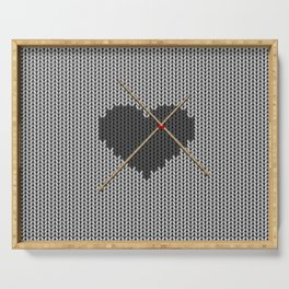 Original Knitted Heart Design Serving Tray