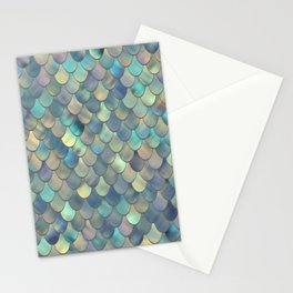 Mermaid Sea Shell Iridescent Stationery Cards