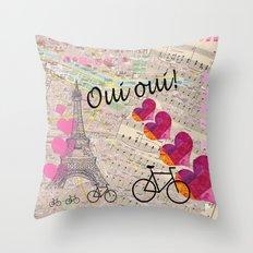 Oui Oui Throw Pillow