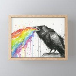 Raven Tastes the Rainbow Framed Mini Art Print
