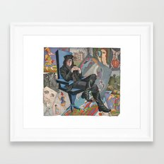 Etching (portrait) - Mihail Chemiakin Framed Art Print