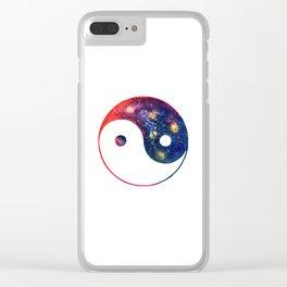 Yin Yang Symbol Watercolor Clear iPhone Case